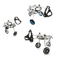 3 SIZE Stainless Steel Cart Pet  Dog Wheelchair for Handicapped Dog Disabled