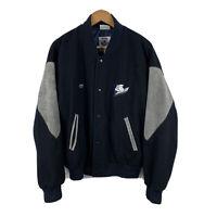 Vintage Canterbury Bulldogs NRL Jacket Cutting Edge Size XL Wool Snap Button