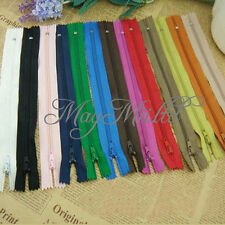 50 Assorted Dress Upholstery Craft Nylon Metal Closed Open Ended Zips Useful O タ
