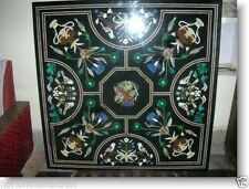 "36"" Marble Dining Table Top Mosaic Malachite Inlay Pietradura Garden Decor H2052"