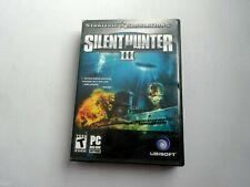 PC Silent Hunter III (2005) w/ Case Insert Manual Disc & Key