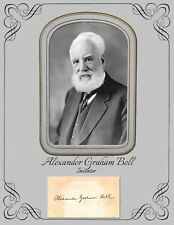 Alexander Graham Bell, Inventor COPY of Photo and COPY of Autograph Card