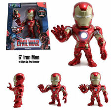 Jada 100% Metals Diecast 6 inch Iron Man Civil War with Light up Chest M55 NEW