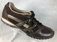 Sketchers Men Brown Leather Running Shoes 11M.       Q8