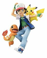 10cm Pokemon go Ash Ketchum Satoshi Pikachu & Charmander PVC Figure handmade hot