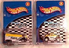 Hot Wheels 2002 M.A.C.E. CLUB VW DRAG BUS & BAJA BUG MATCHING SET - SHIP FREE !