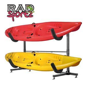 RAD Sportz Freestanding Heavy Duty Two Kayak Paddleboard Rack Storage