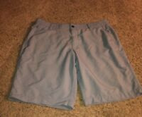 Under Armour UA Mens Flat-Front Golf Shorts Gray Size 38 Nylon Blend