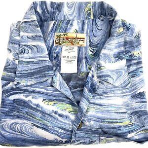 Patagonia Pataloha Camp Shirt Size M Waves Surfing Organic Cotton Hawaiian