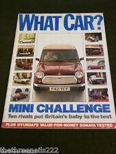 WHAT CAR? - MINI CHALLENGE - JULY 1989