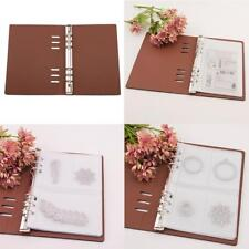 DIY Scrapbooking Cutting Dies Stencil Synthetic Leather Storage Book Case Holder