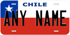 Chile Flag Any Name Personalized Novelty Car License Plate