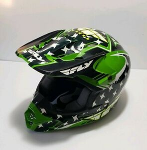 Fly Racing Adult Motocross Dirt Bike Offroad Helmet Green Black Size M