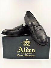 Alden Penny Loafer Black Leather Flex Welt Mens Shoes 9695F NIB 11.5 D