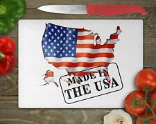 Made In The USA - Glass Cutting Board, Worktop Saver - Chopping, Kitchen