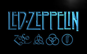 Led Zeppelin Led Sign Light Hanging Acrylic Engraved
