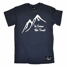 In Snow We Trust Mens Powder Monkeez T-Shirt tee birthday skiing snowboarding