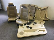 BMW E46 3 series COMPACT Tan / Sand Beige SE Leather Seats Door Panels Interior