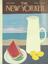 COVER ONLY ~The New Yorker magazine ~July 9 1966 ~ MARTIN ~ Food Fruit pitcher