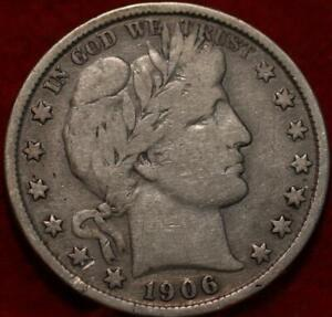 1906 Philadelphia Mint Silver Barber Half Dollar