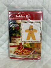 Quilted Pot Holder Kit for Paper Piecing Christmas Gingerbread Man NEW