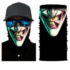 US Joker Skull Motorcycle Cycling Neck Scarf Half Face Mask Bandana Ski Headband