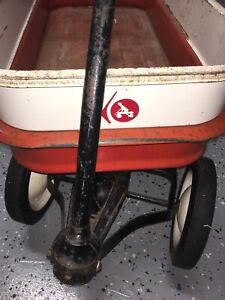 Vintage RARE  Radio Rancher Pull Wagon With All 4 Sides-Mechanically PERFECT