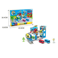 1 SET Bus Station Parking Lot With 2 CAR Toys The Little Bus TAYO Child's Gift