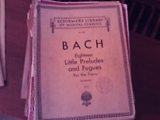 Bach, ed  Buonamici: 18 Little Preludes and Fugues, piano solo (Schirmer)