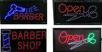 LED Flashing Barber Pole Salon Scissor Hair Cut Hairdresser Interior Shop Sign