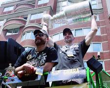TIM THOMAS & ZDENO CHARA Boston Bruins 2011 STANLEY CUP PARADE 8x10 photo