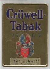 Krüwell-Tabak  Allemand cigarette carton pub ancien / PUB4