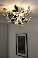 Plafonnier Lampe suspension Lustre Luminaire Lampe de salon Couleur chrome 49848