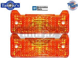 68-69 Chevy II Nova Parking Turn Light Lamp Lens & Gasket SET