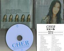 CHER Believe w/ 2 BONUS REMIX TRX  CLUB 69 & XENOMANIA JAPAN PRESS CD USA Seller