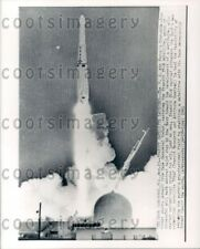 1961 Wire Photo USAF Thor-Able-Star Rocket Launches Carrying Transit IV-B