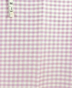 3 yds Lavender & White Check,Plaid Polyester Apparel Fabric,Tops,Shirts,Crafts