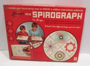 SPIROGRAPH 1967 ORIGINAL DRAWING TOY No. 401 VINTAGE SET W/ BOX & PARTS KENNER