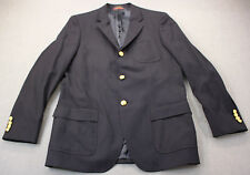 RALPH LAUREN POLO GOLF Men Navy Blue 100% Wool Clubhouse Blazer NWT 44 Long $595