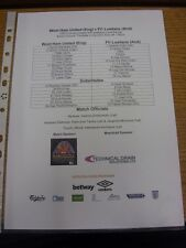 02/07/2015 Colour Teamsheet: West Ham United v Lusitans [Europa League] . Thanks