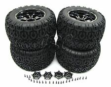 Losi XXL-2 TIRES, Set of 4 (WHEELS Tyres & Caps, Chrome 20mm LOS04002
