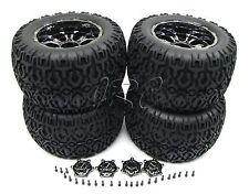 Losi XXL-2 TIRES, Set of 4 (WHEELS Tyres & Caps, Chrome 20mm LOS04002