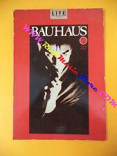 CARTOLINA PROMOZIONALE POSTCARD BAUHAUS zik mu 10x15 cm no *cd dvd lp mc vhs