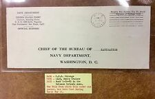 {Bj Stamps} Uss Chicago 1938 Navy Dept. Penalty ship cover sunk 1943