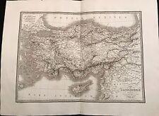 CARTE DE L'ASIE MINEURE ANCIENNE 1831