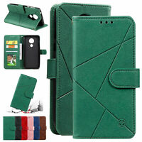 For Motorola Moto G7 Power G7 Play E6 Plus Leather Card Slots Stand Case Cover