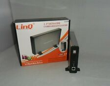 BOX CASE COMBO IDE SATA USB HARD DISK HDD ESTERNO 3.5 LINQ eSATA HiSpeed