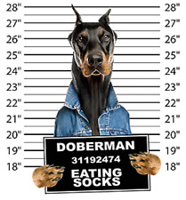 Doberman Pinscher  Mug Shot Tote