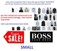NEW HUGO BOSS CASUAL MENS REGULAR SLIM FIT LONG SLEEVE SHIRT RRP £79+ SMALL S