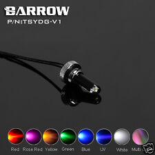 Crystal LED Plug G1/4 Thread For Reservoir Water Tank 4Pin Molex Color Optional